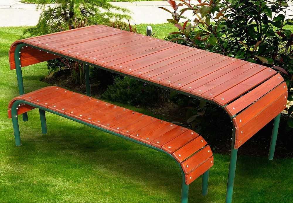 Уличные столы и стулья для дачи своими руками