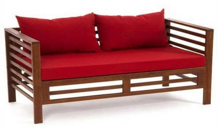 Деревянный раскладной диван своими руками