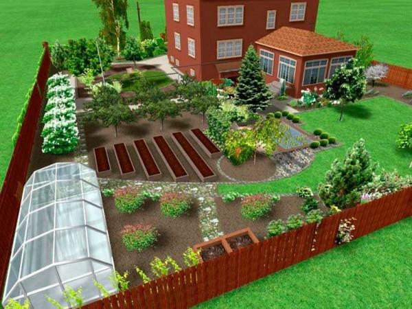 План участка - размещаем дом и основные постройки
