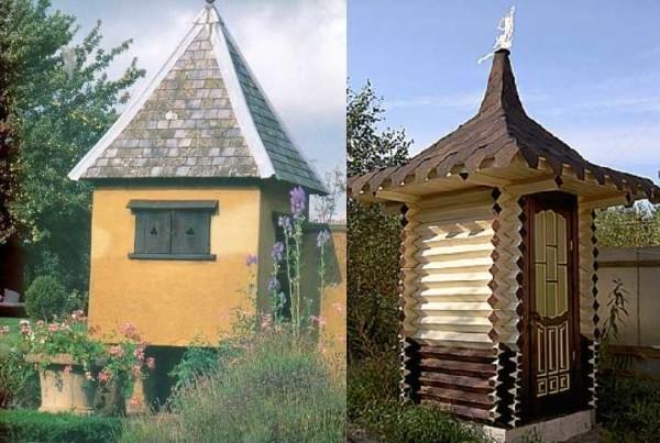 И всего-то крыши сделаны по разному, да окошки другие