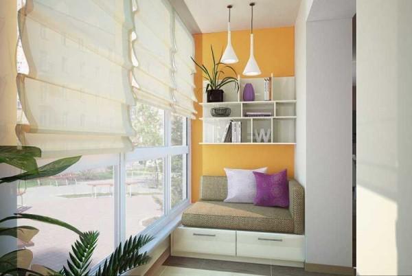 дизайн отделки балкона