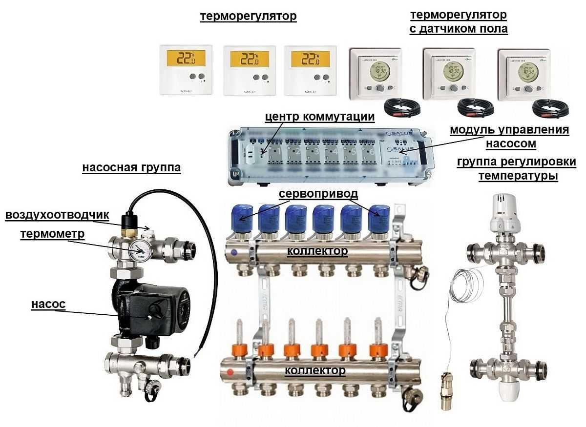 смесительная система для теплых полов схема