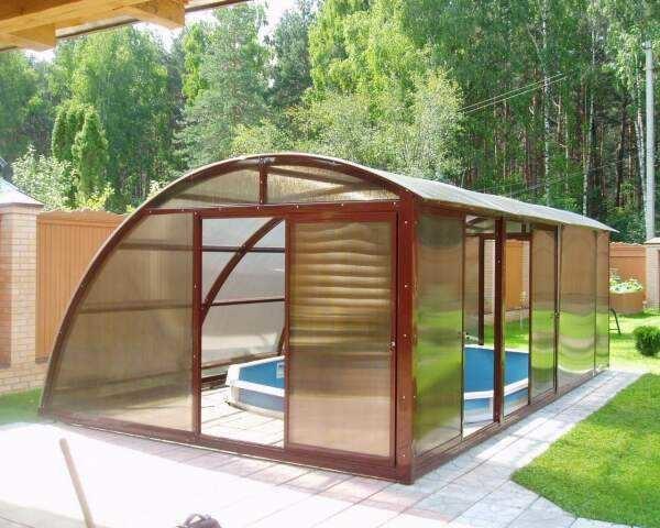 Еще один вариант укрытия для бассейна