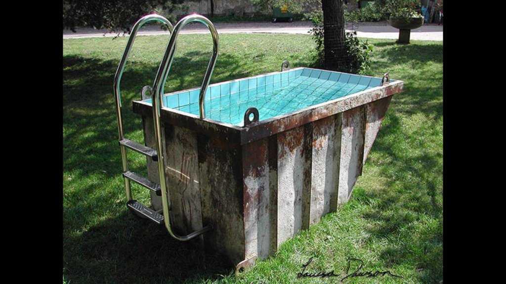 Из чего сделать бассейн на даче своими руками из подручных материалов