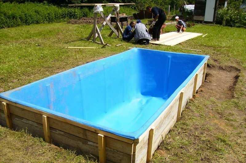 Как сделать бассейн своими руками недорого видео