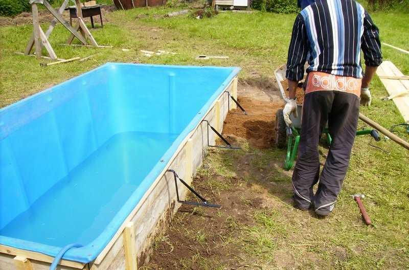 Как сделать бассейн на даче недорого своими руками фото 11