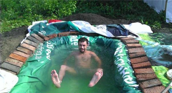 Испытания бассейна на даче