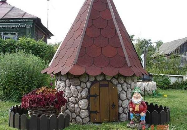 декоративная крыша на колодец