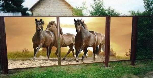 Рисунок можете заказать сами: хоть лошадей, хоть сторожевых собак)))