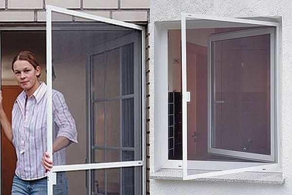 Распашные москитные сетки удобны для дверей