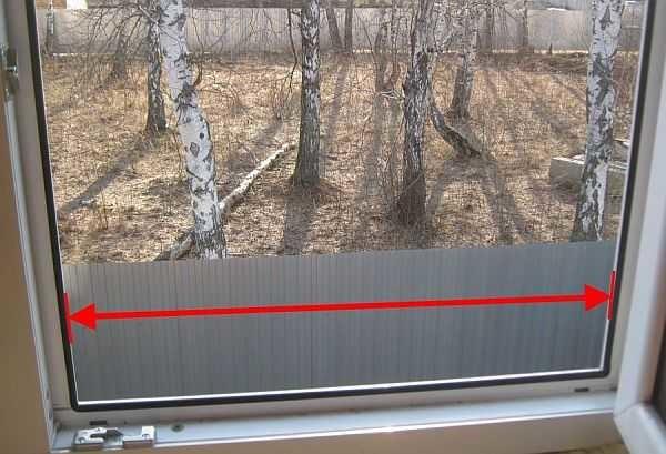 Как замерять окно при заказе москитной сетки
