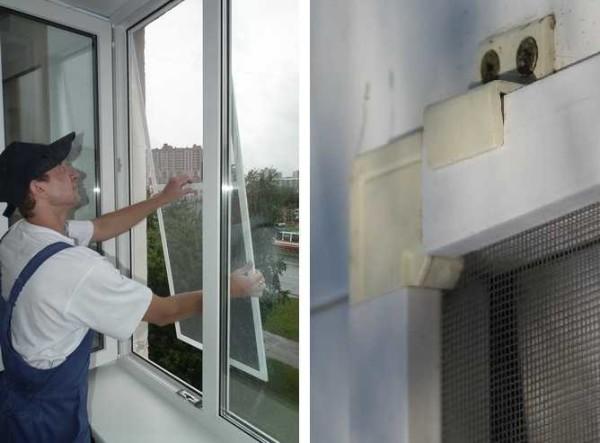 Установка москитной стеки в окно