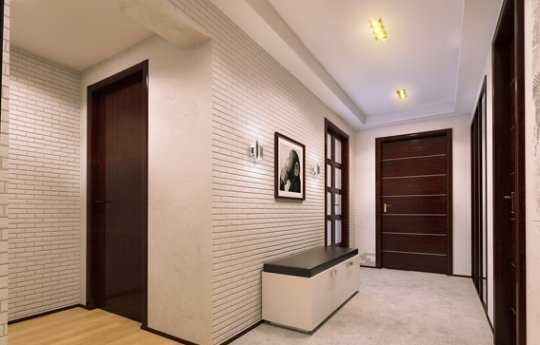 Обои в коридоре дизайн