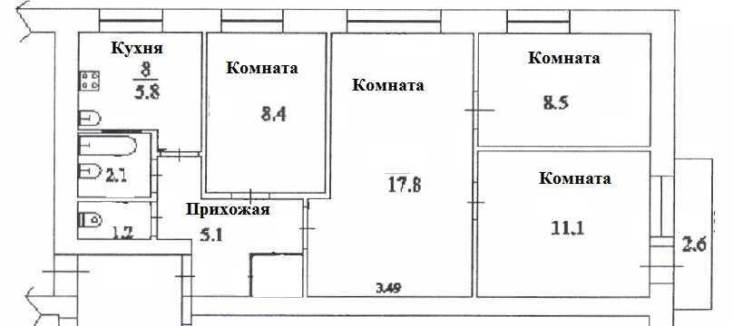 Ремонт 3-комнатной квартиры, цена