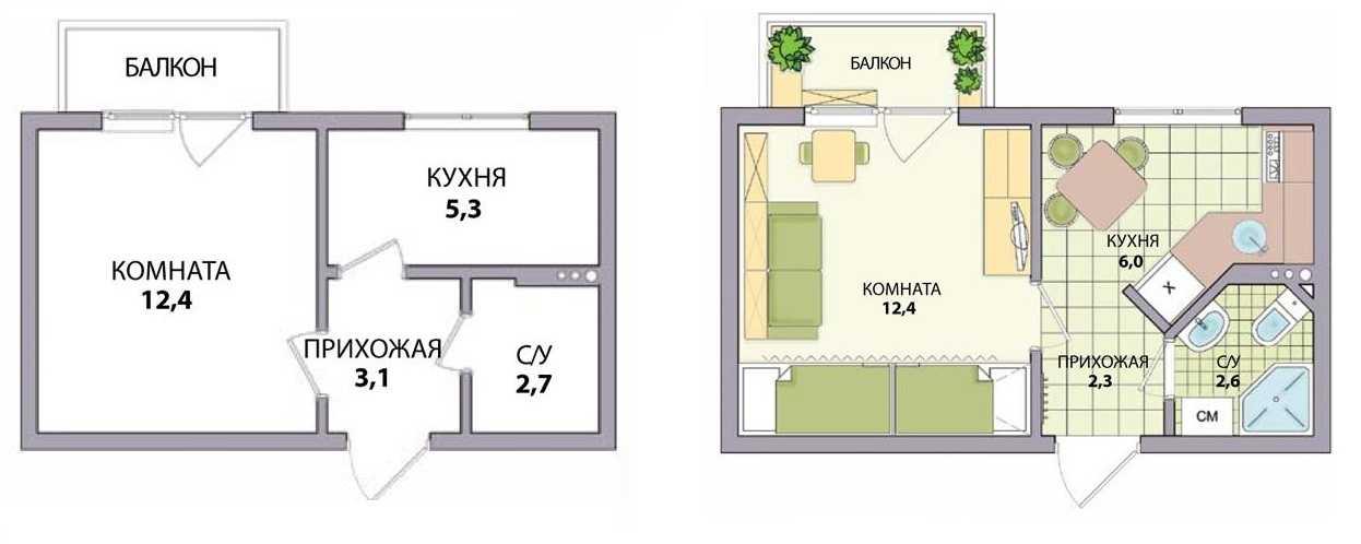 Перепланировка квартиры — в хрущевке, в панельном доме, в