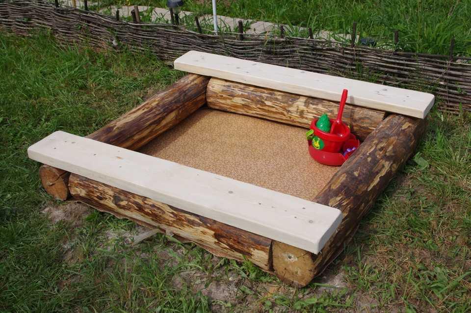Изготовление детской песочницы своими руками 46
