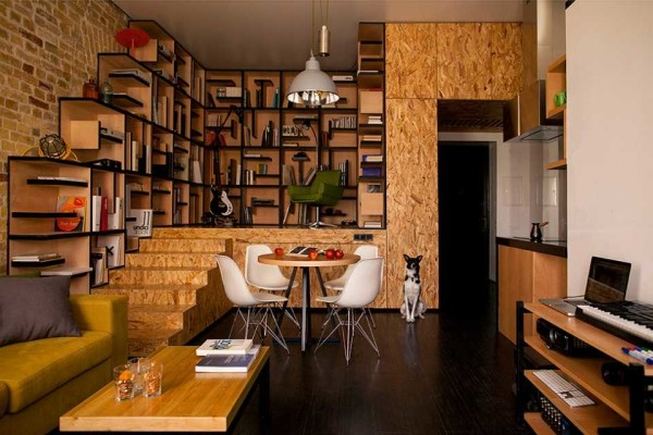 Это реальный интерьер в небольшой квартире
