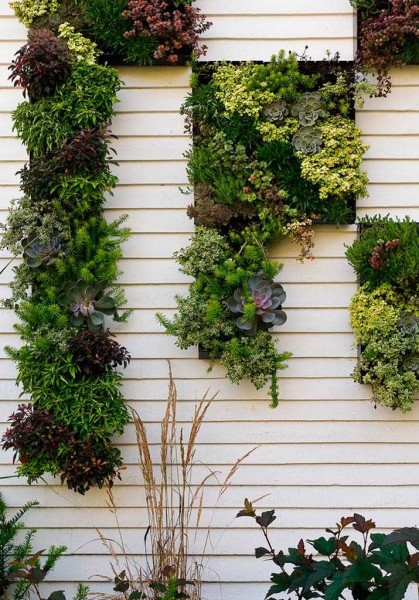 Стену дома тоже можно подобным образом украсить