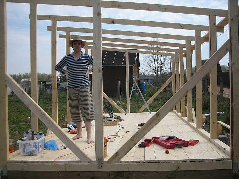 Как построить деревянный каркас своими руками 474