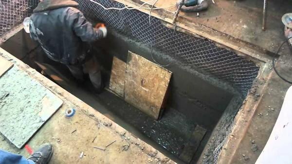 Пример строительства смотровой ямы