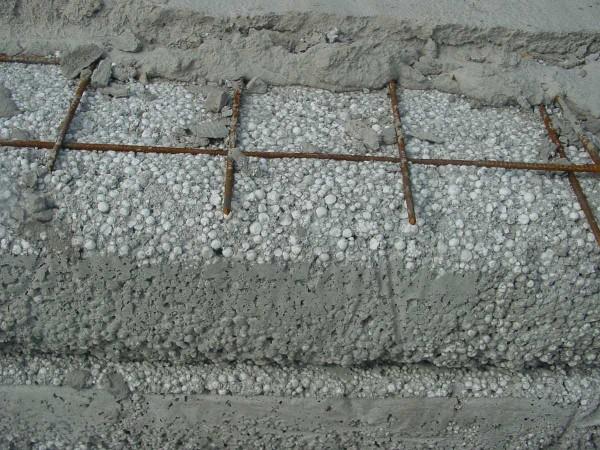 Один из легких бетонов - полистиродбетон