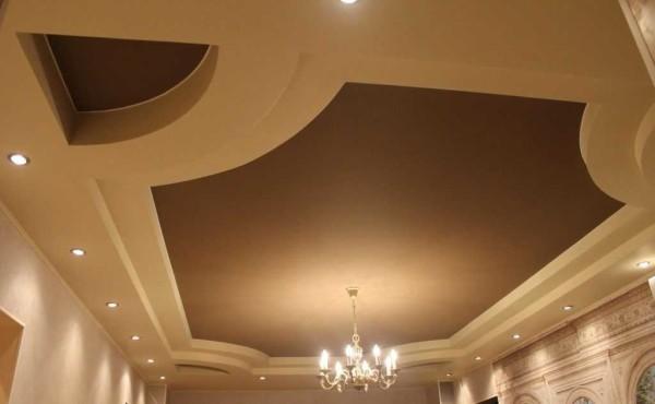 Один из вариантов дизайна натяжного потолка