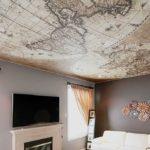 Натяжной потолок с фотолпечатью - хоть карту мира