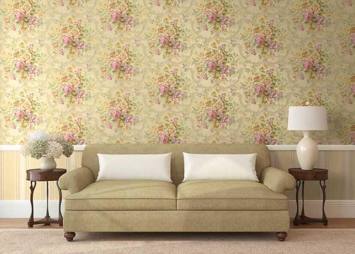 Обои для гостиной фото цветы