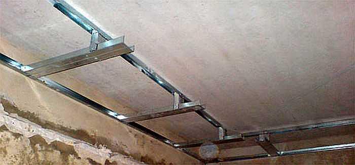 Потолки из гипсокартона своими руками в двух