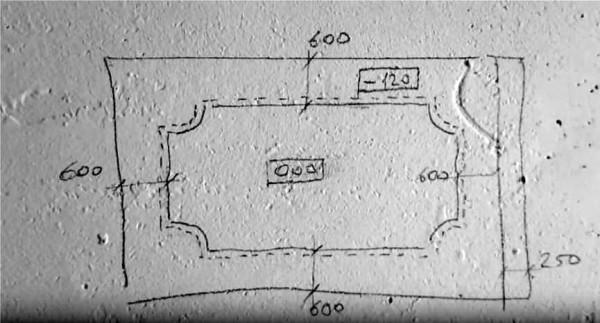 План короба для подсветки