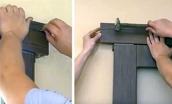 Декоративную накладку можно прибить прямо к брусу