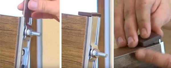Установка роликов на дверное полотно