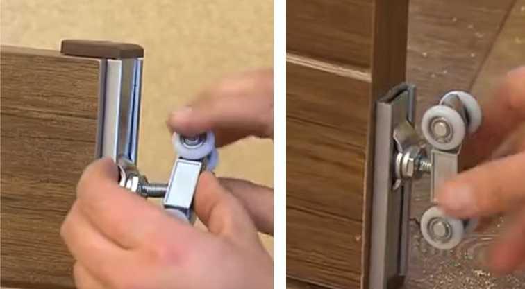 Установка роликов на дверь своими руками 27