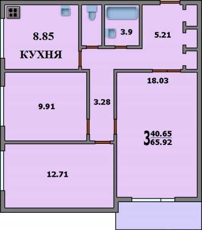 План квартиры, и кухня в которой делаем ремонт ...почти 9 кв м