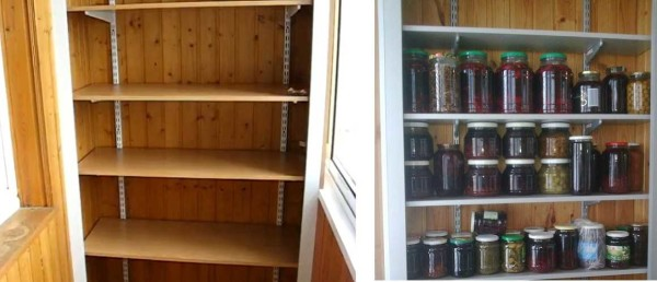 Удобная системы для полок на балконе