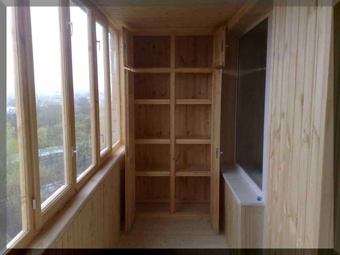 Деревянный шкаф на лоджии своими руками фото
