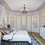 Неяркие цвета - спальня в стиле прованс уютная