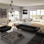 Современный стиль интерьера предполагает небольшое количество предметов