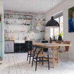 Кухня в скандинавском стиле - отсутствие парадности - главная черта