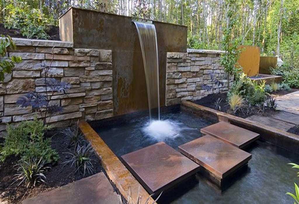 Дачные водопады своими руками