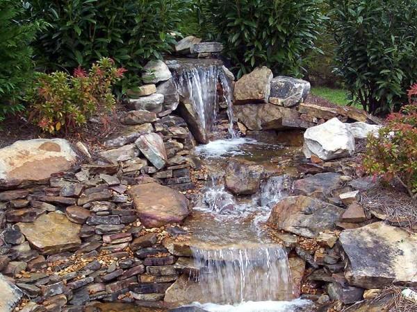 пруд с водопадом своими руками фото