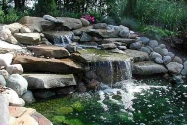 садовые водопады фото