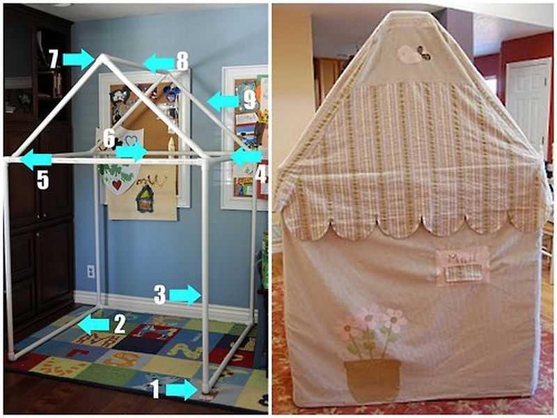 Как сделать игрушечную палатку своими руками 41