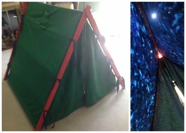 Палатка с эффектом звездного неба