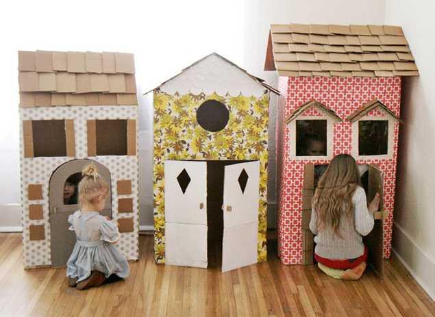 Домики из картона для игрушек своими руками