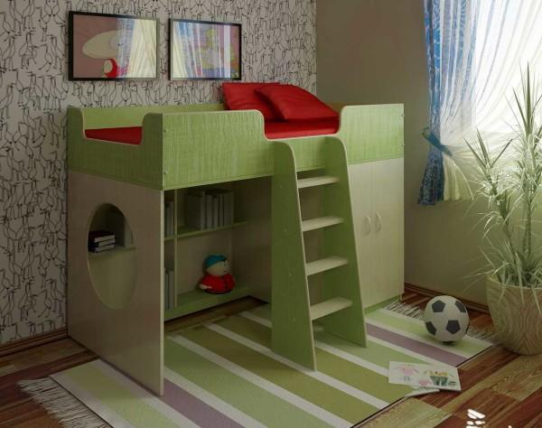 Кровать-чердак с игровой зоной для мальчика