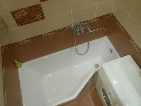 Ванная нестандартной формы - тоже выход