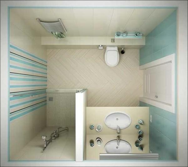 ДИизайн санузла с использованием плитки из одной коллекции