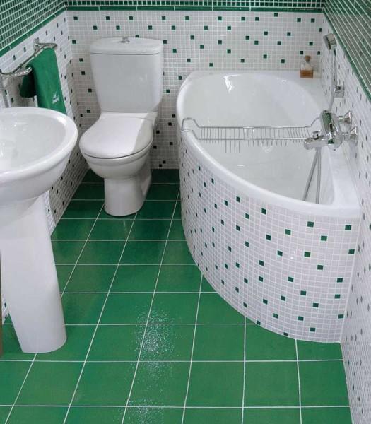 Бело-зеленый вариант оформления
