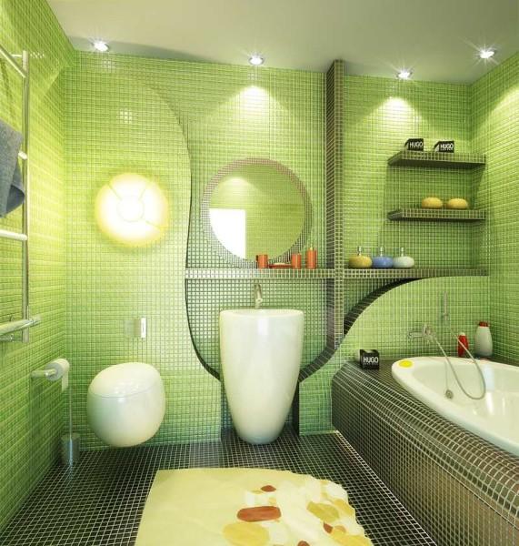 Мозаика на стенах - одна из самых модных сейчас тенденций